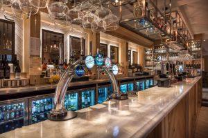 Along the bar